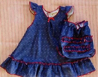 Organic Baby Girl Dress Top + Panties