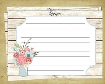 Recipe Card to Match Invitation - 25 Cards per Pack