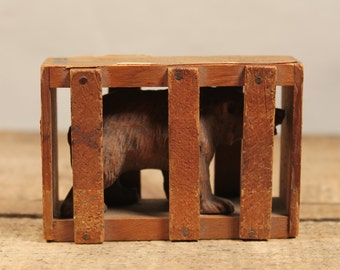 1940s Souvenir Bear in Crate