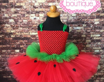 Strawberry tutu, Strawberry tutu dress, strawberry costume, strawberry pageant dress, pageant dress, strawberry party