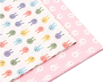 happy bunny  x2  fabric fq