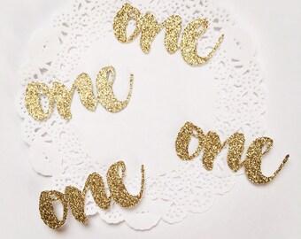 1st Birthday Confetti, One Confetti, Number Confetti, Age Confetti, One Glitter Confetti, Gold One Confetti 50 Pieces, Silver One Confetti