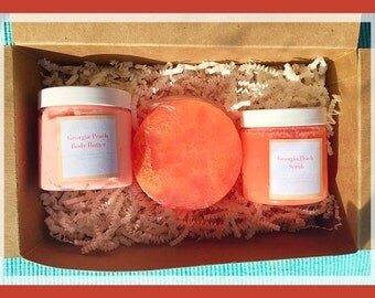 Spa Gift box 4-choice of scent,  spa gift, bath and body gift set, vegan gift set, spa gift basket, body butter,scrub,  Mother's Day gift