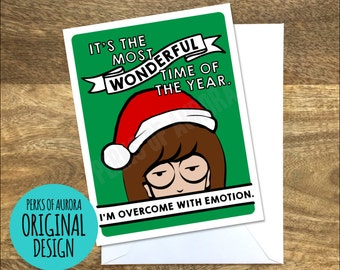 Funny Christmas Card, Daria inspired