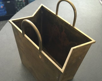 "Brass ""Shopping Bag"" for Mail or Magazines"