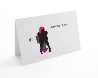 Witty Thinking of You greeting card