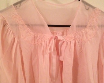 Vintage pink nightie cape size medium