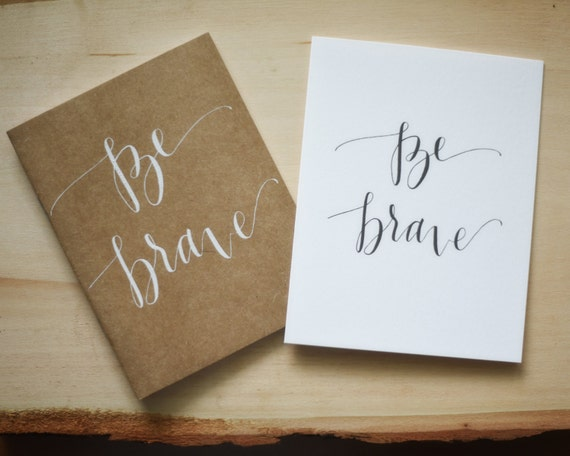 Items Similar To Be Brave Calligraphy Journal Set Of 2