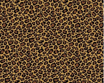 Animal  Print Cotton Fabric, Animal Skin Print By the Yard  #256-8