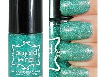 Mint Microglitter Nail Polish