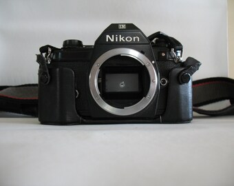 Vintage Nikon EM 35mm SLR Film Camera with Carrying Strap