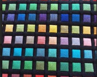 "Mid Century Modern Look Fabric 1/4"" squares"