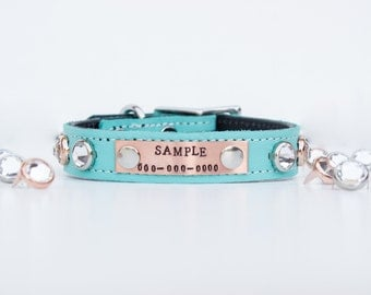 Sniffany & Co. Leather Dog Collar // Personalized