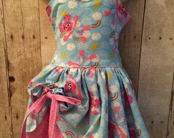 Boutique Quality Handmade Peekaboo Dress sesame street Abby Cadabby Inspired sizes newborn - girls 8