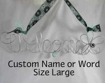 LARGE Custom Wire Art/ Custom Name Wire Wall Art/ Custom Word Art/ Custom Word Art/ Metal Wall Art/ Wire Art/ Metal Wire Art/ Custom Art