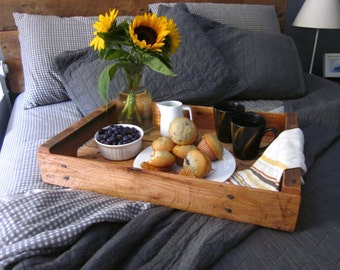 Reclaimed Wooden Serving Tray - Handcrafted