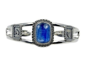 Kyanite & .925 Sterling Silver Cuff Bracelet , AD442