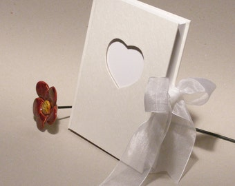 Wedding Guest Book, White Wedding Book, Wedding Memory Book, White Wedding Journal, Wedding Accessory, Bridal Shower Gift, Engagement Gift