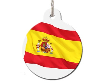 Pet ID Tag Spain Flag | FREE Personalization