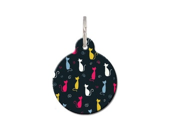 Kitty Pattern Cat ID Tag | FREE Personalization