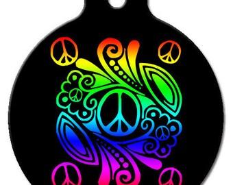 Peace Pet ID Tag