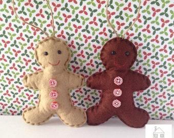 Christmas Gingerbread Man Felt Ornament