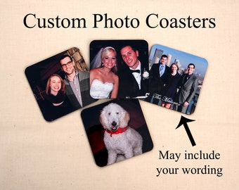Photo Coasters, Personalized photo coasters, custom coasters,  set of 4 coasters, Christmas Photo Gift, Christmas gift