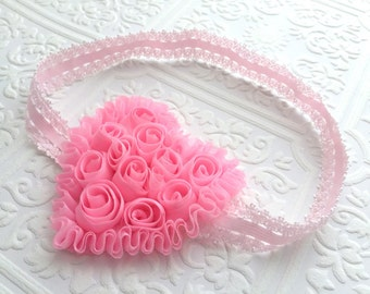 The Light Pink Rosy Heart Headband or Hair Clip