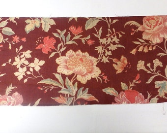 Vintage French floral fabric - TS39 -