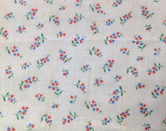 Pretty vintage French floral fabric - MY6
