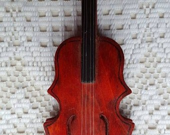 """Mini Vintage Wood Violin Fiddle 7 1/2"""""""