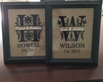 Decorative wedding picture frames
