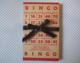 16 Vintage Bingo Cards Red