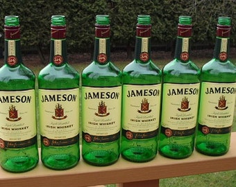 6 JAMESON IRISH WHISKEY 1Liter empty recycled liquor bottles for crafts
