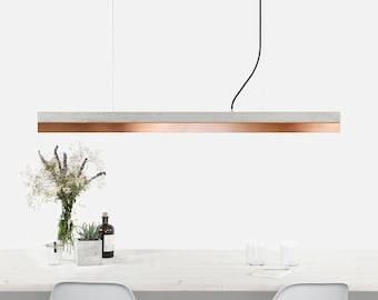 Pendant light concrete [C1]copper minimalist rectangular rare designer lamp