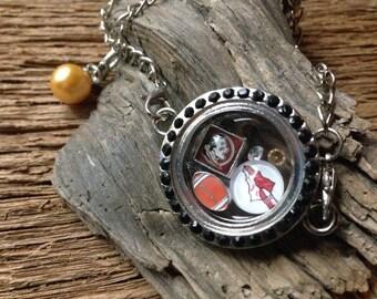 FSU Seminoles memory locket bracelet: Florida State charm bracelet