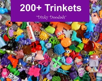 200+ I SPY trinkets, charms, small toys, and miniatures for crafts, educational toys, I SPY Bags, game pieces. No Duplicates!