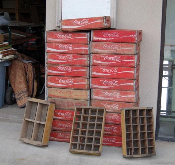 vintage coca cola bouteille bois caisses bo tes. Black Bedroom Furniture Sets. Home Design Ideas