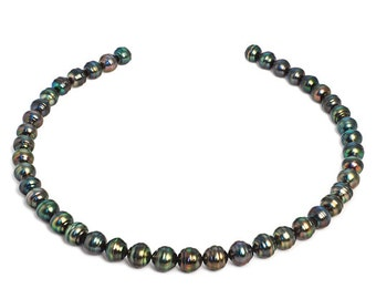 Tahitian Pearl Necklace- 8-10mm- AA - 14KT Gold  #TAHDG
