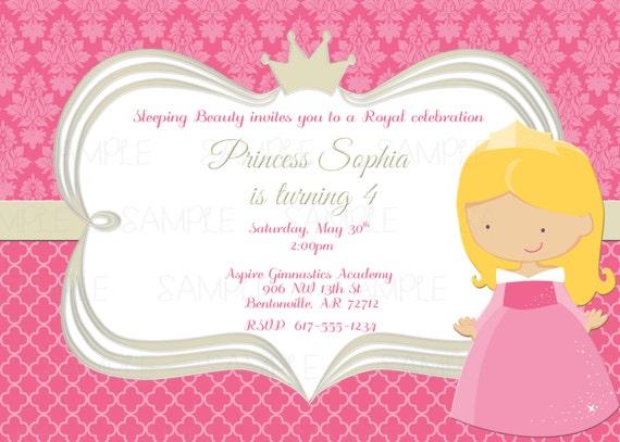 printable sleeping beauty princess aurora birthday party, Invitation templates
