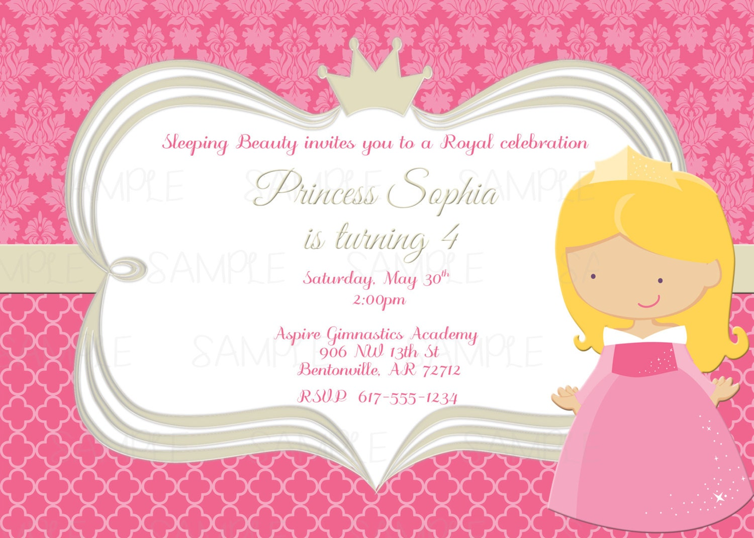 belle thank you card printable sleeping beauty princess aurora birthday party invitation plus blank matching printable thank you card
