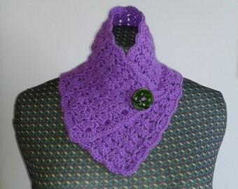Crochet collar or scarf.