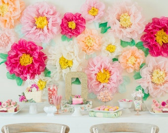 Tissue Paper flowers for Flower Wall