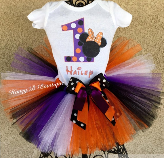 Halloween Minnie First Birthday Tutu Outfit Baby's First
