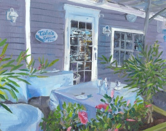 Cape May restaurant greeting card 4 x 4