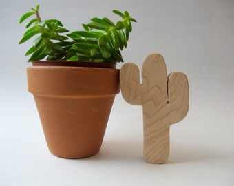 Wood Toy - Cactus Teether - organic, safe and natural for baby