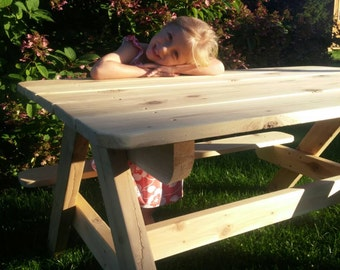Picnic Table, Outdoor Table, Table, Kid Size