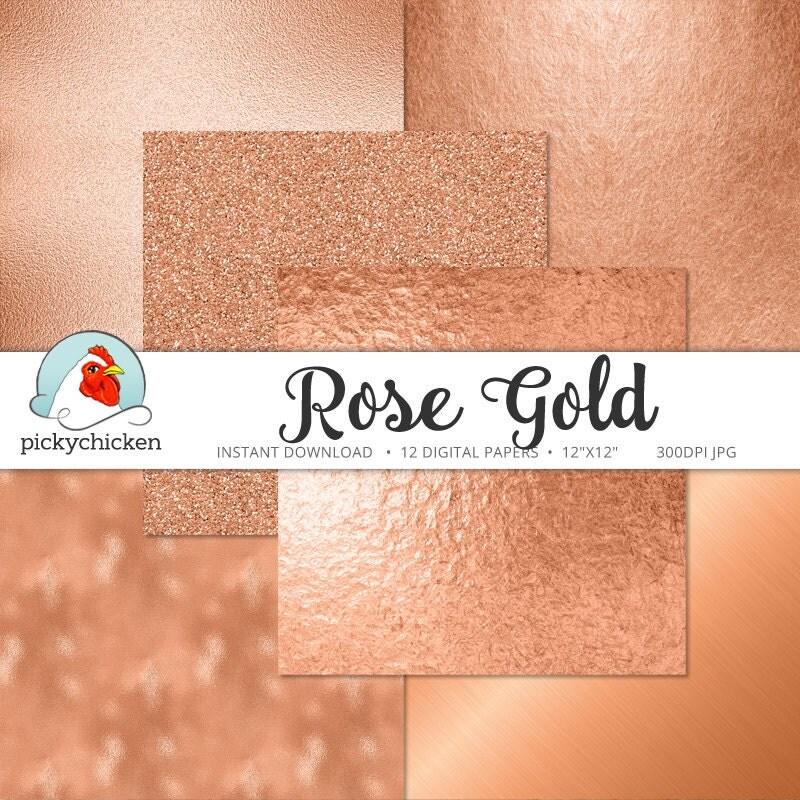 rose gold digital paper rose gold paper rose gold faux foil