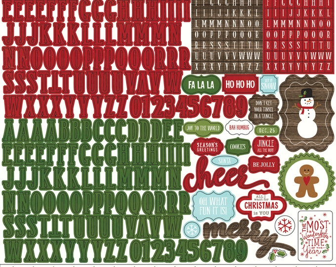 1 Sheet of Echo Park Paper THE STORY of CHRISTMAS 12x12 Alpha (Alphabet) Stickers