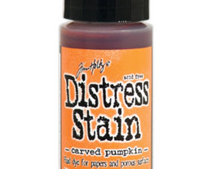 Tim Holtz Orange Distress Stain - Carved Pumpkin - October 2015